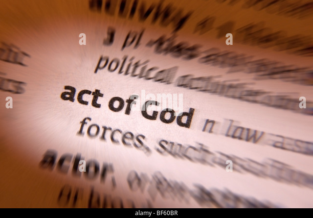 Act of God - Stock Image