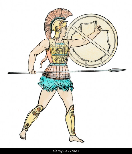 Warrior of ancient Greece - Stock Image