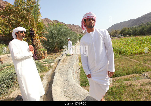 Harrah, village, farm, farming, Ras al-Khaimah, United Arab Emirates - Stock Image