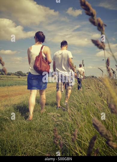 Countryside walk - Stock Image