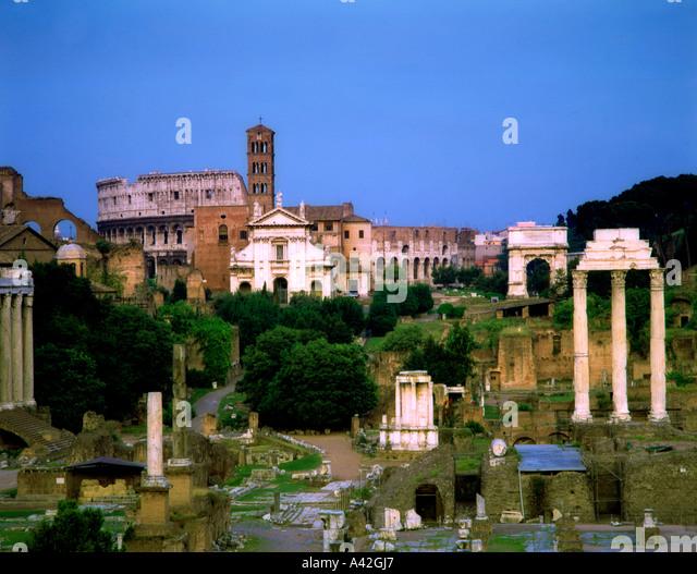 Rome Forum Romanum - Stock Image