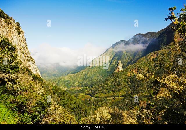 Valle de Hermigua, Parque Nacional de Garajonay, UNESCO World Heritage Site, La Gomera, Canary Islands, Spain, Europe - Stock-Bilder