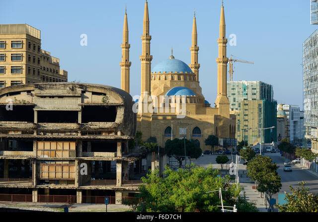 LEBANON, Beirut, Mohammed-al-Amin-Mosque,  a sunni mosque build 2008 at place of martyrs, which was during civil - Stock Image