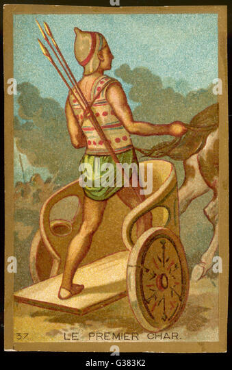 THE FIRST CHARIOT - Stock Image