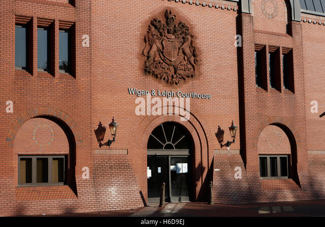 Wigan and leigh courthouse magistrates county and family courts England United Kingdom - Stock Image