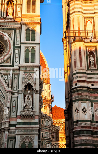 Evening at the Duomo in Florence Tuscany Italy - Stock Image