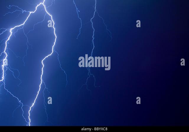 Lightning bolts blue stock photos lightning bolts blue for Abstract salon tucson