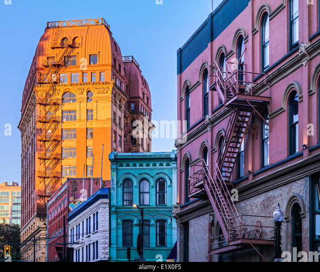 Apartment Buildings in Downtown Vancouver, British Columbia, Canada - Stock Image