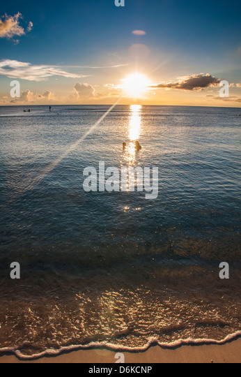 Sunset in Guam, US Territory, Central Pacific, Pacific - Stock Image