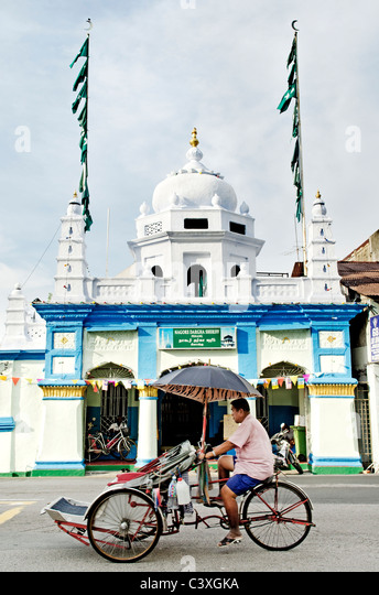 hindu temple in penang malaysia - Stock Image
