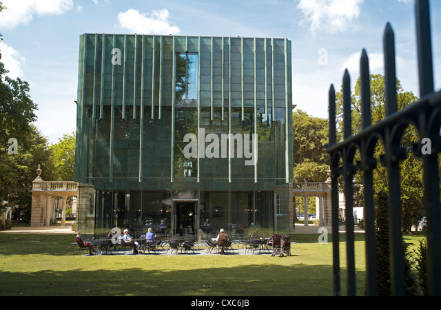 The new extension to Holburne Museum, Bath, Avon, England, United Kingdom, Europe - Stock Image