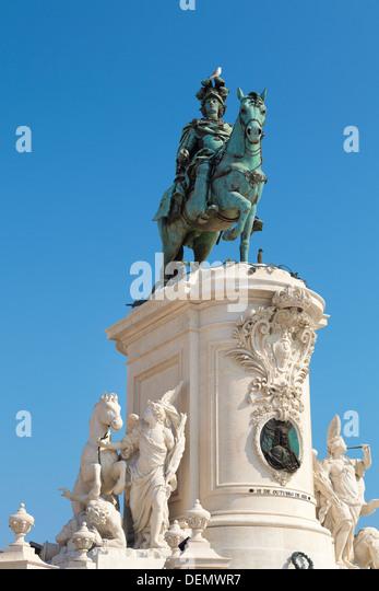 Monument of King Jose I, Lisbon, Portugal - Stock-Bilder