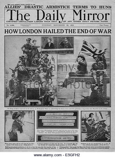 An analysis of the end for the world war one in 1918
