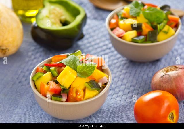 Mango salsa - Stock Image