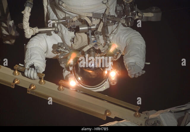 Astronaut Patrick Forrester on spacewalk - Stock Image
