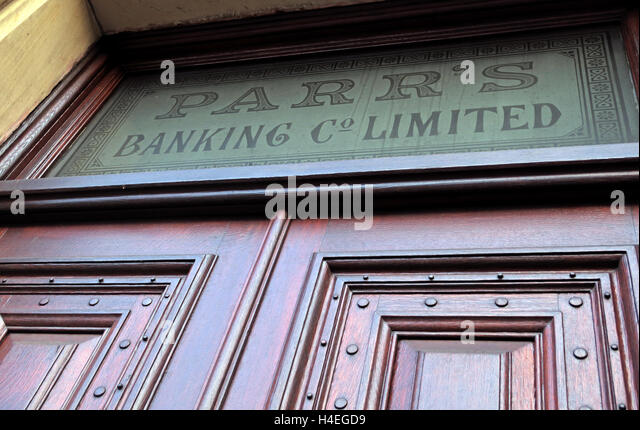Parrs Banking Co Limited,branch in Warrington,Cheshire,England - Former main branch - Stock Image