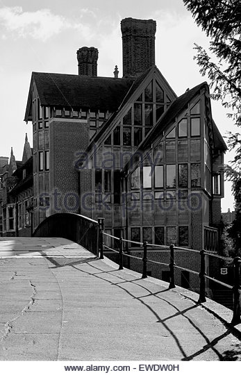Jerwood Library and Garret Hostel Bridge Cambridge - Stock Image