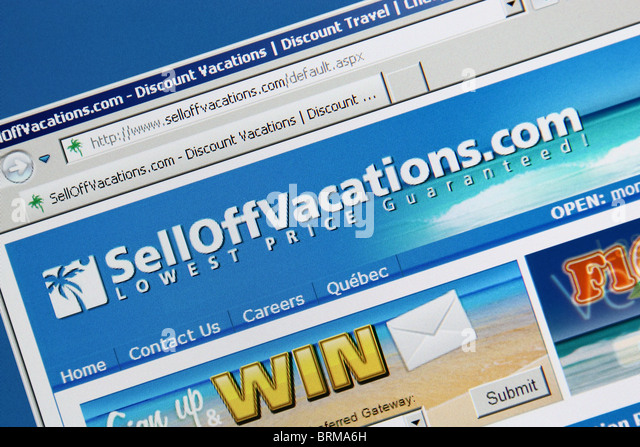 online travel booking selloffvacation - Stock-Bilder