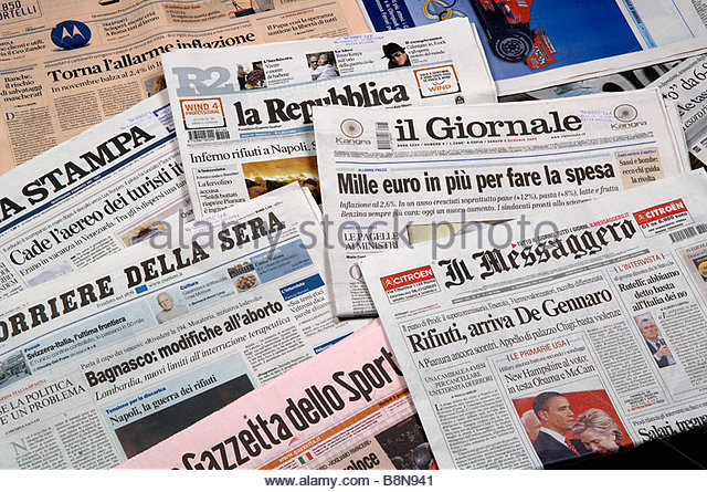 how to say newspaper in italian