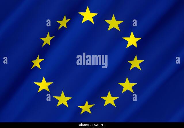 Flag of Europe - European Union - Stock Image