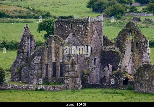 Ruins of Hore Abbey, County Kerry, Ireland - Stock Image