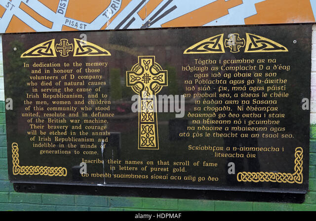 Falls rd,Garden of remembrance, IRA members killed,also deceased ex-prisoners,West Belfast,NI, UK - Stock Image