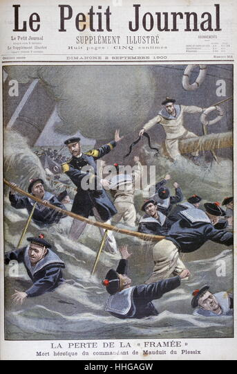 death of Captain Henri de Mauduit du Plessix (1862 - 1900) On 2 September 1900, - Stock Image