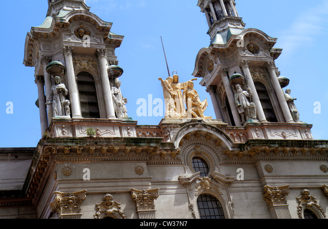 Buenos Aires Argentina Avenida Adolfo Alsina Basilica of San Francisco St. Francis Basilica catholic church National - Stock Image
