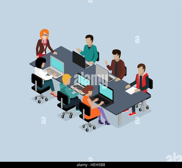Teamwork 3d isometric business team. Teamwork and teamwork concept, working together, collaboration and business - Stock-Bilder