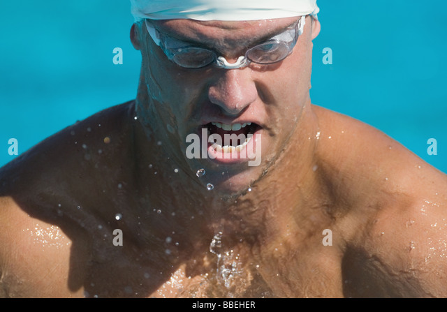 Young australian athlete wearing protective gear - Stock Image