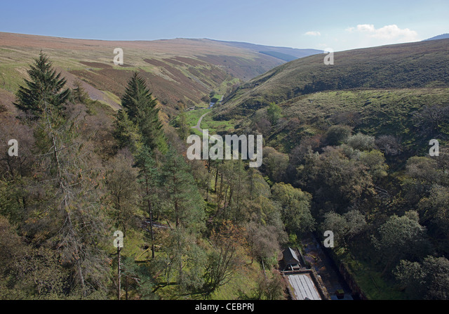 Autumn in the Vale of Ewyas in the Black Mountains of Monmouthshire in Wales - Stock Image