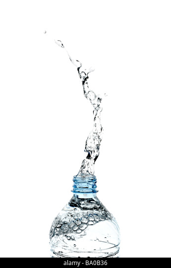 Water Splashing from a Bottle - Stock Image