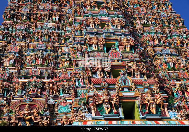 Meenakshi Amman Temple, Madurai, Tamil Nadu, India - Stock Image