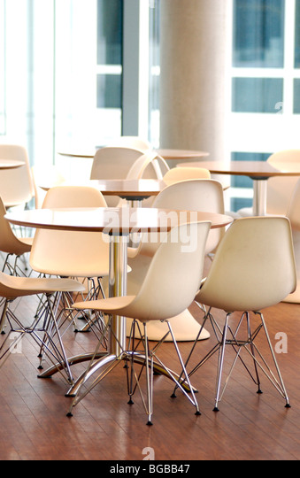 Photograph of cafeteria office clean interior furniture cleaners - Stock-Bilder