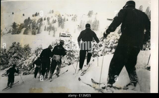 Mar. 22, 2012 - The Argentine Ski-team Stepping up During final practice at St.Moritz: Members of the Argentine - Stock Image