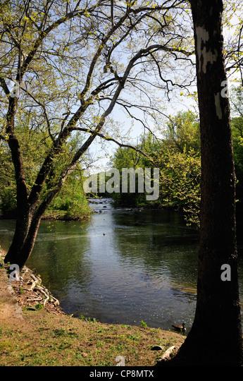 Brandywine River, Delaware, near the Hagley Museum - Stock Image