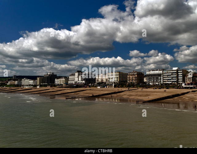 Eastbourne from the pier, East Sussex - Stock Image