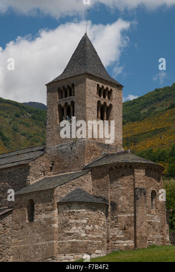 Eglise de Axiat, Ariège, France - Stock Image
