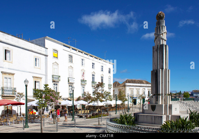 Republic Square, Tavira, Algarve, Portugal, Europe - Stock-Bilder