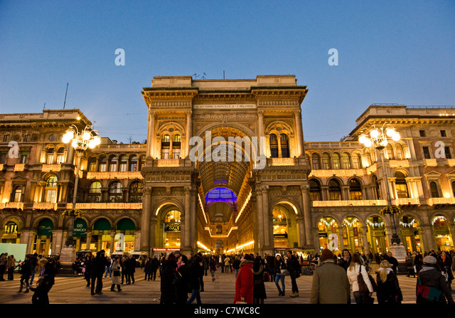 Italy, Lombardy, Milan, the Galleria Vittorio Emanuele - Stock Image