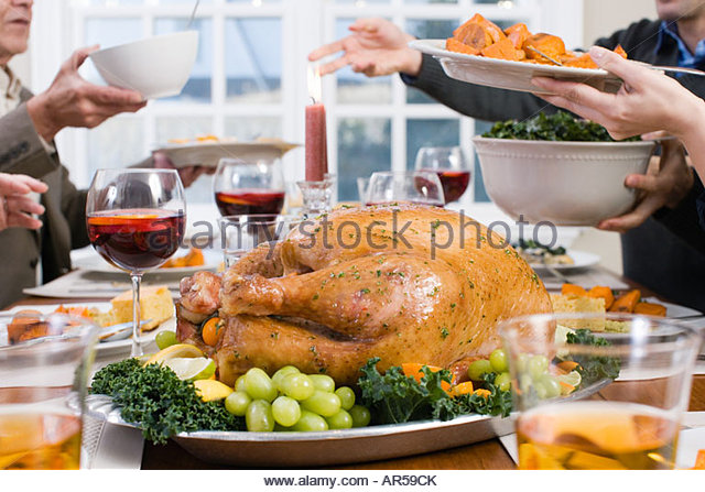Thanksgiving dinner - Stock-Bilder