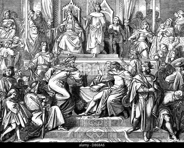 Medieval Singing Contest  Wartburg - Stock Image