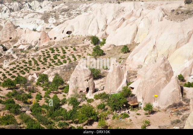 rose valley, landscape, cappadocia, anatolia, turkey, asia - Stock Image