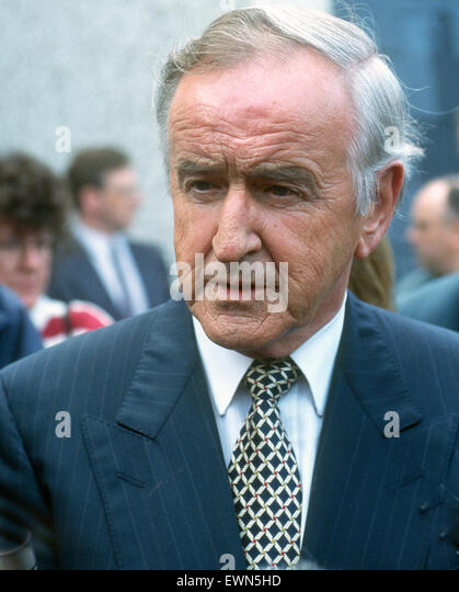 ALBERT REYONALDS. ONE TIME IRELAND'S PRIME MINSTER - Stock Image