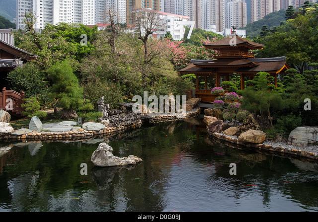 China Hong Kong Kowloon, Nan Lian garden - Stock-Bilder