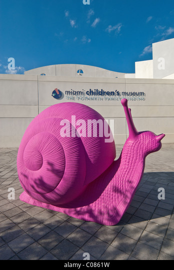 Pink Snails', part of REgeneration Art Project by Italian directors Gloria Porcella and Lamberto Petre, Miami, - Stock Image