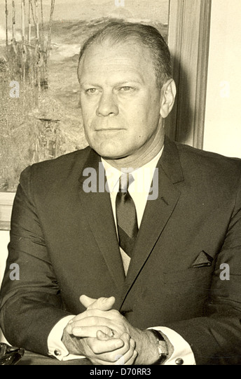Gerald Ford, Palm Beach, ca 1975 - Stock Image