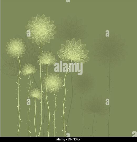 Decorative floral background in shades of green - Stock-Bilder
