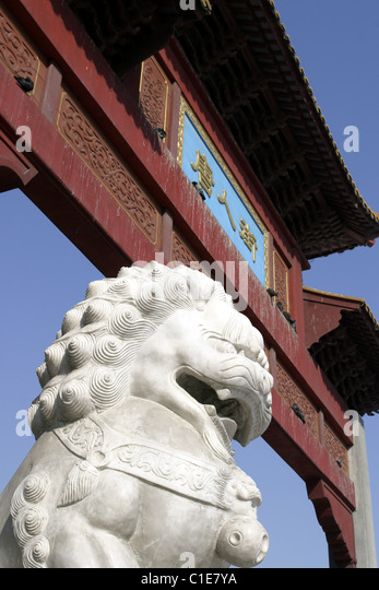 Canada, Quebec, Montreal, Chinatown, the gate of the asian district on the boulevard Saint- Laurent - Stock Image