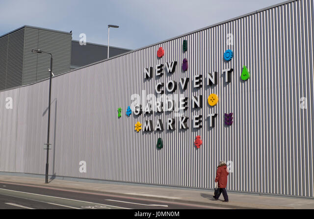 Side entrance to the New Covent Garden Market in Battersea, London,UK - Stock Image